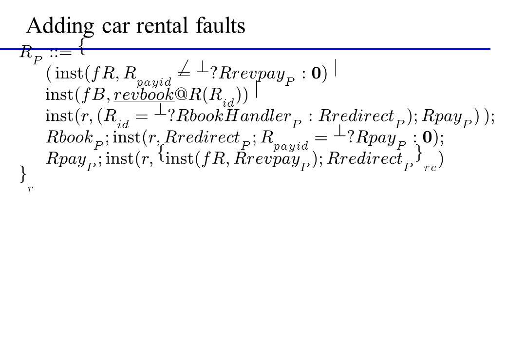 Adding car rental faults