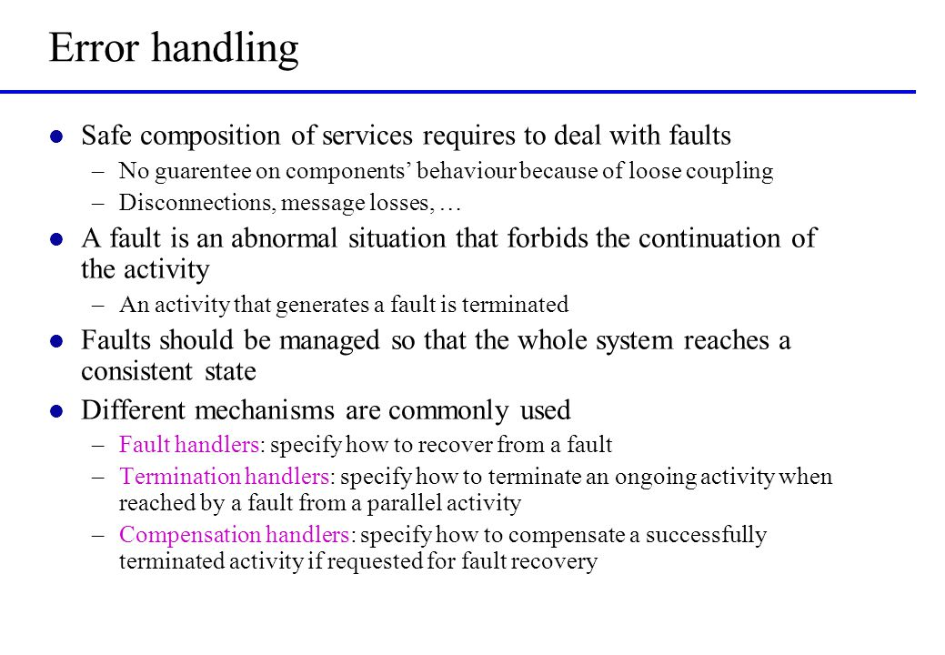 Installing compensation handlers q q' Inst (q,Q)