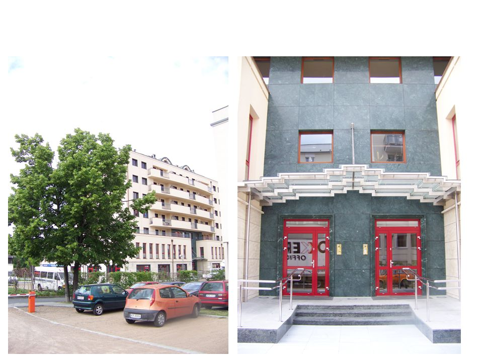 Surface : 23.500 m 2, (350 flats, 2.700 m 2 retail, 1.500 m 2 offices) Start: April 2007 End: December 2009 Sales : 46 mln € 50% sold