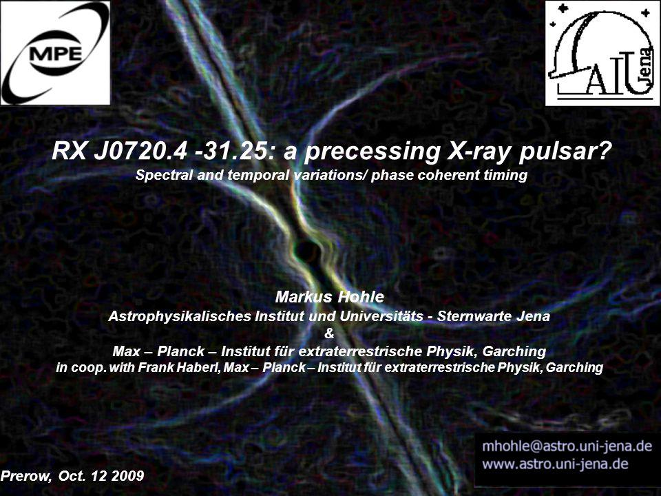 RX J0720.4 -31.25: a precessing X-ray pulsar.
