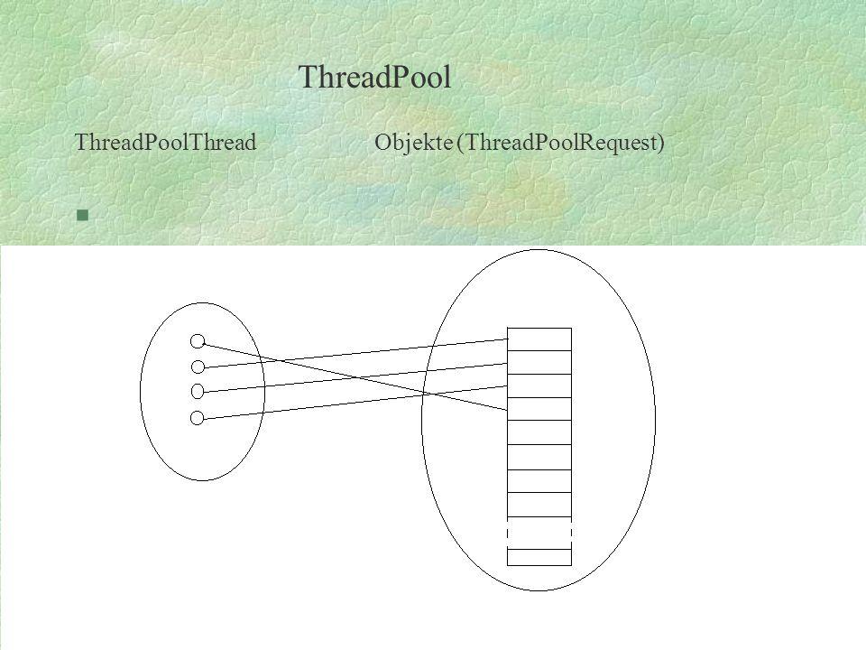 ThreadPoolThread Objekte (ThreadPoolRequest) § ThreadPool
