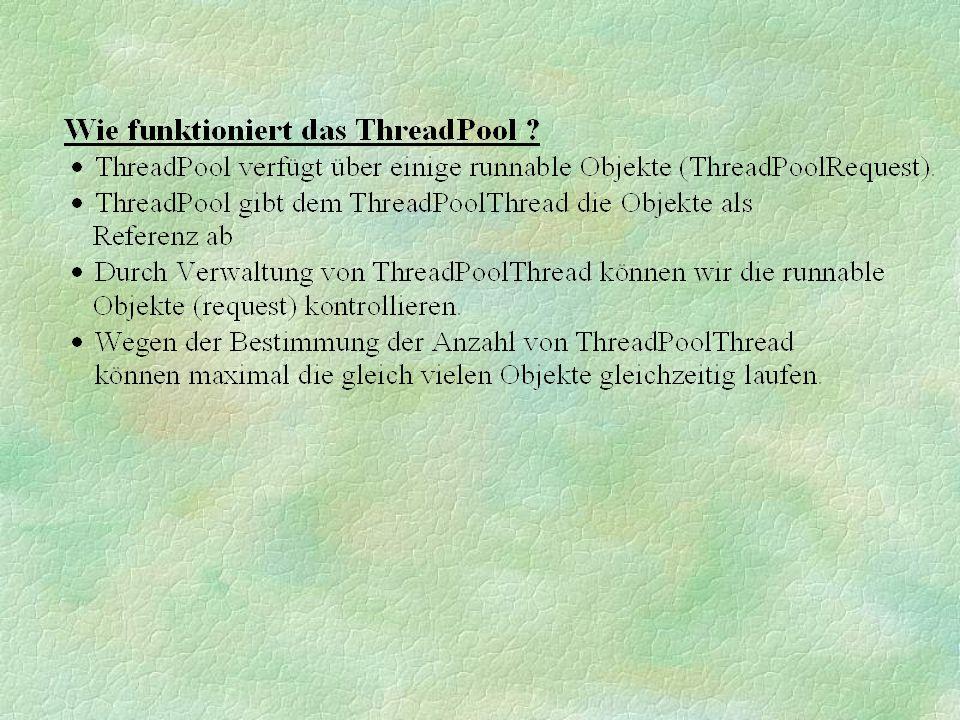 Thread 1 Thread 2 Thread 3 Thread 1... Das Ergebnis :