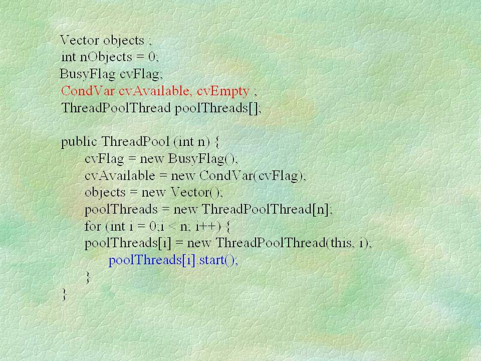 public synchronized void run() { while (true) { long waitTime = runJobs(); try { wait(waitTime); } catch (Exception e) {}; } public void cancel(Runnable job) { deleteJob(job); }