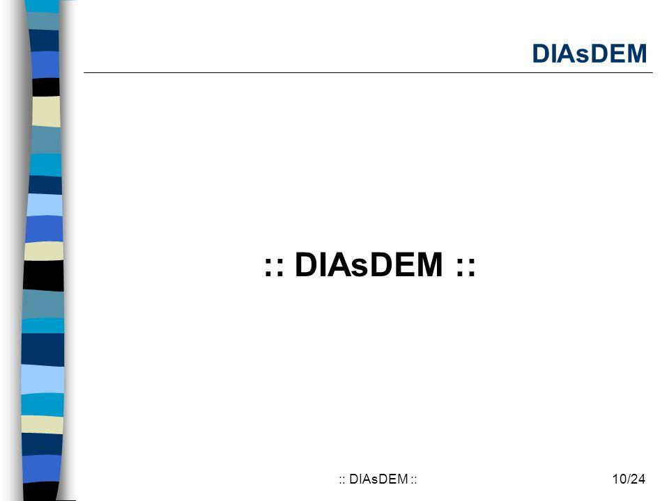 10/24:: DIAsDEM :: DIAsDEM :: DIAsDEM ::