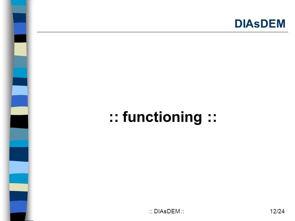 12/24:: DIAsDEM :: DIAsDEM :: functioning ::