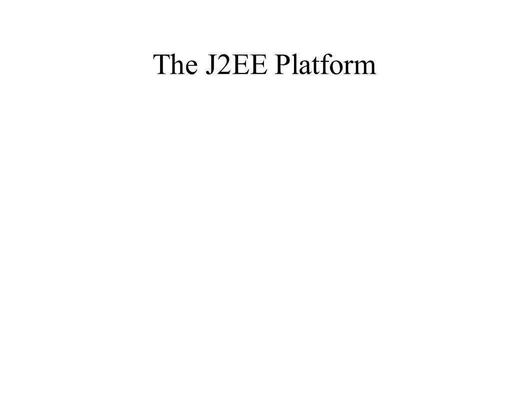 Some J2EE Partners Allaire BEA/Weblogic Bluestone Bull Forte Fujitsu Gemstone Haht IBM Inline iPlanet Iona Luna Novera Oracle Persistence Progress Secant Siemens SilverStream Sybase TradeX Versant Vision