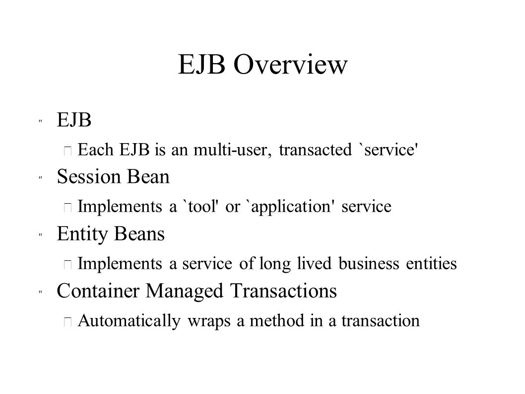 EJB Overview