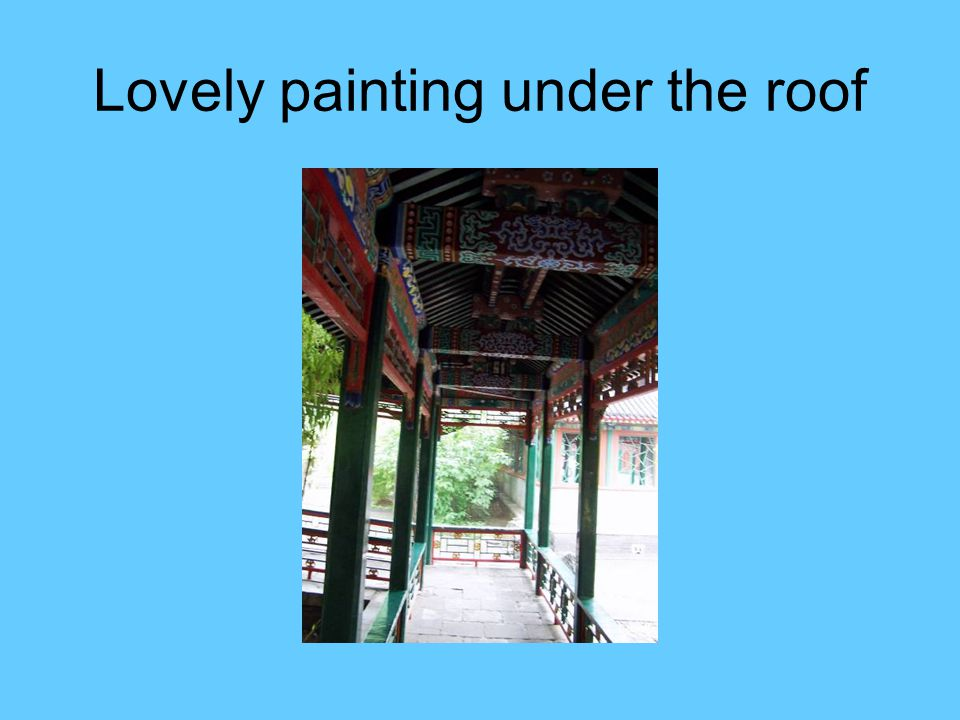 Lovely painting under the roof