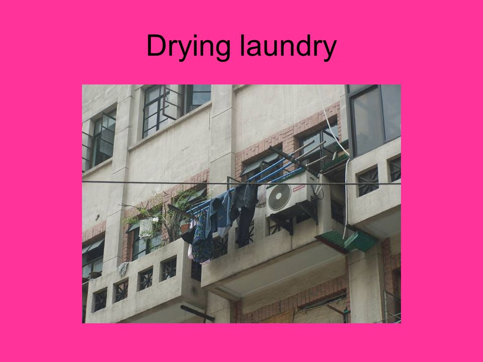 Drying laundry