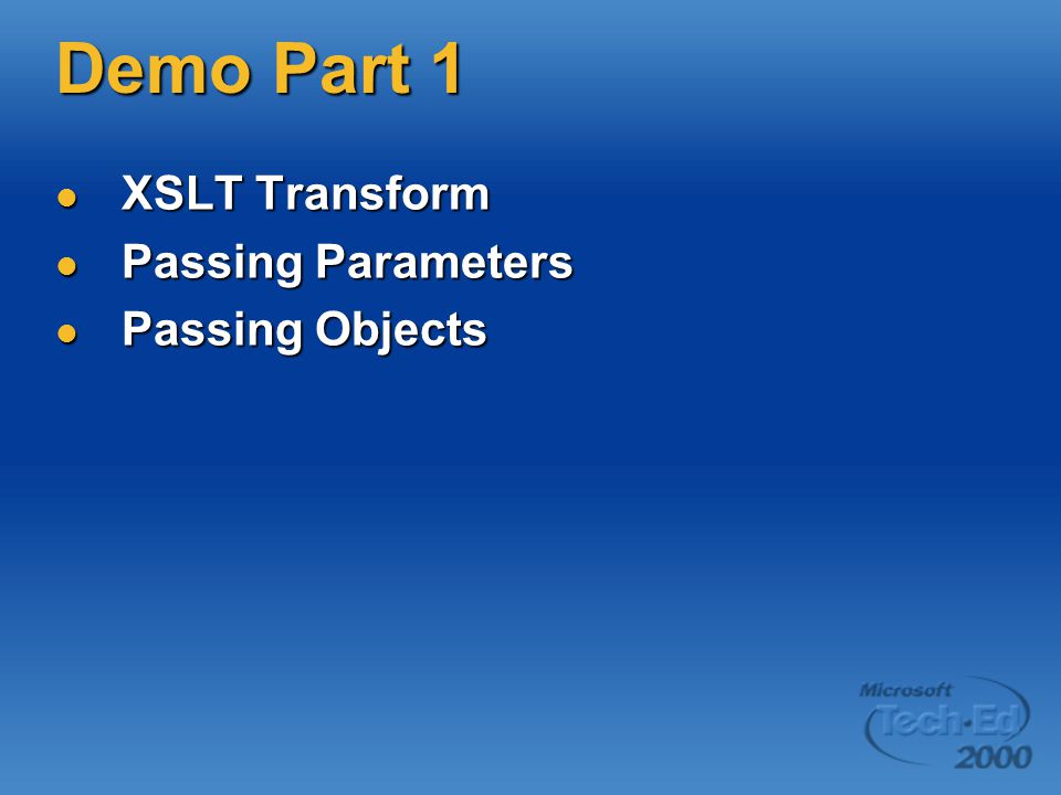MSXML3: Standards Full XSLT Support Full XSLT Support Full XPath Support Full XPath Support SAX (Simple API for XML) SAX (Simple API for XML) Finishing touches on XML 1.0 Finishing touches on XML 1.0