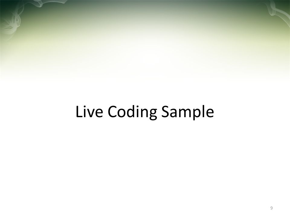 Live Coding Sample 9