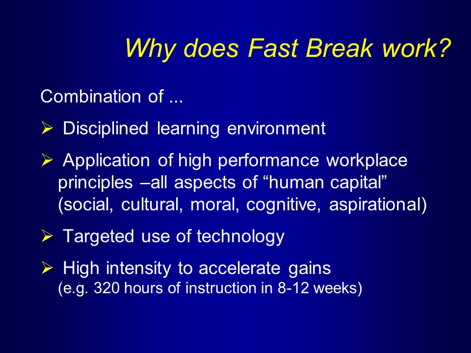 Why does Fast Break work. Combination of...