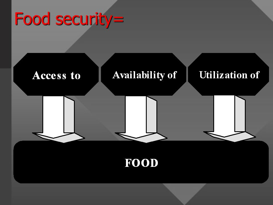 Food security=