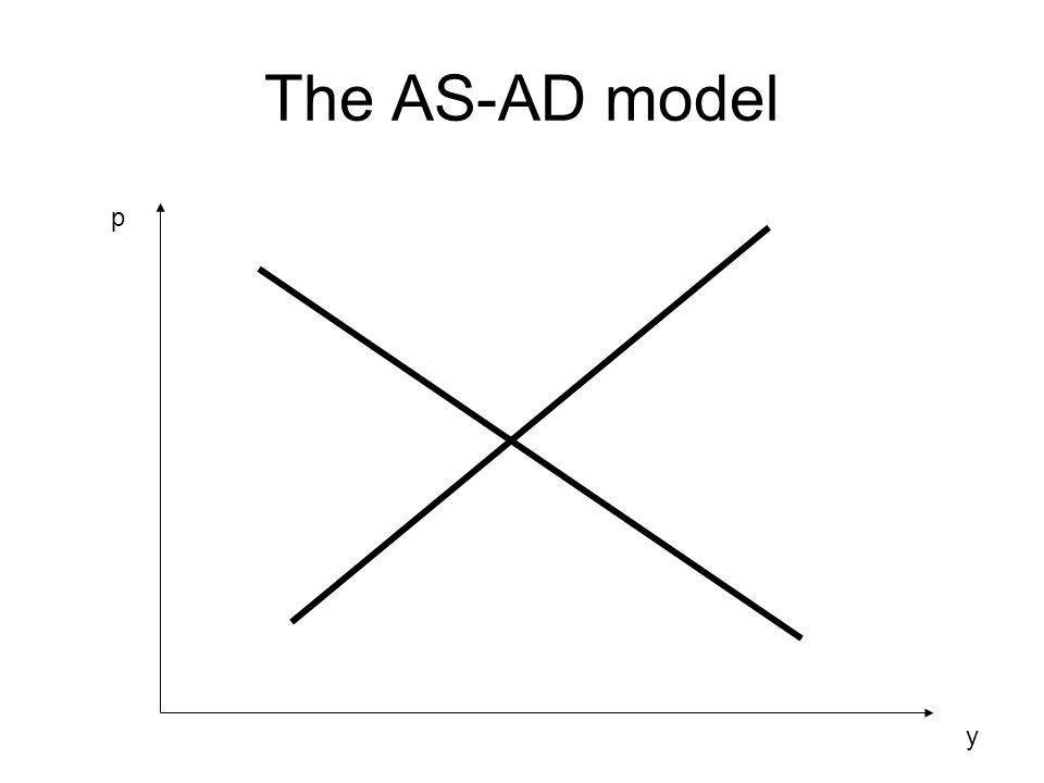 The AS-AD model y p