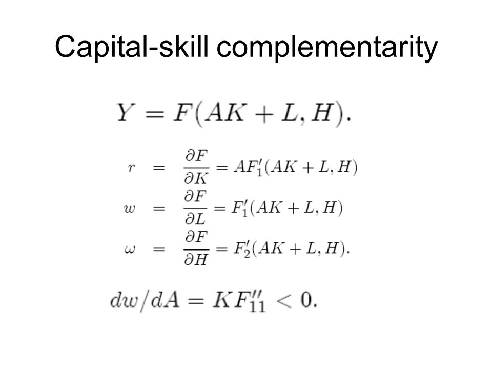 Capital-skill complementarity