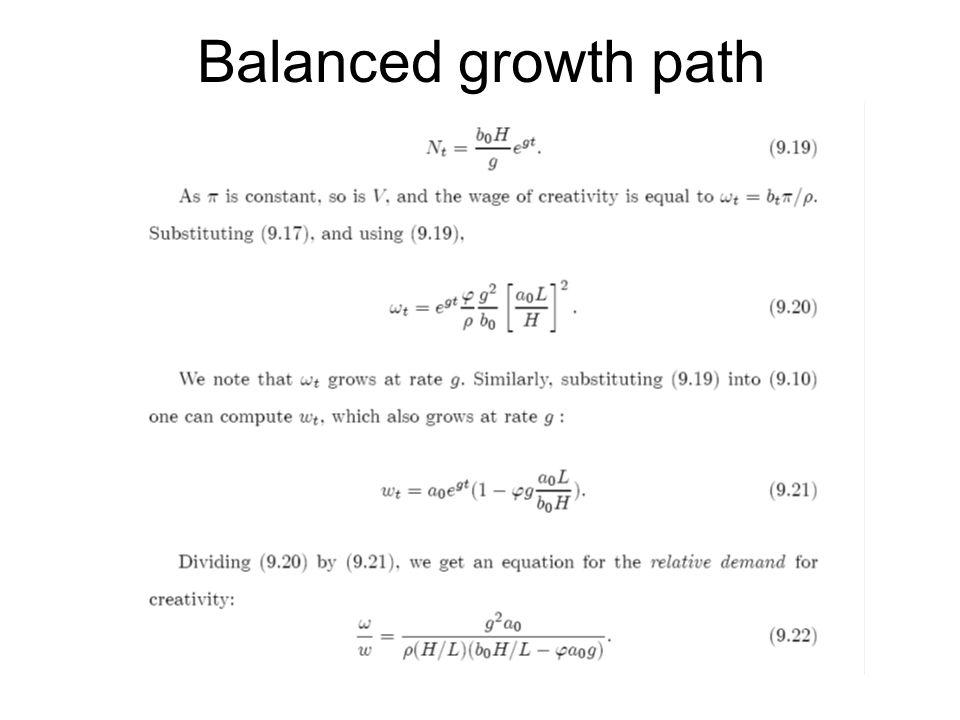 Balanced growth path