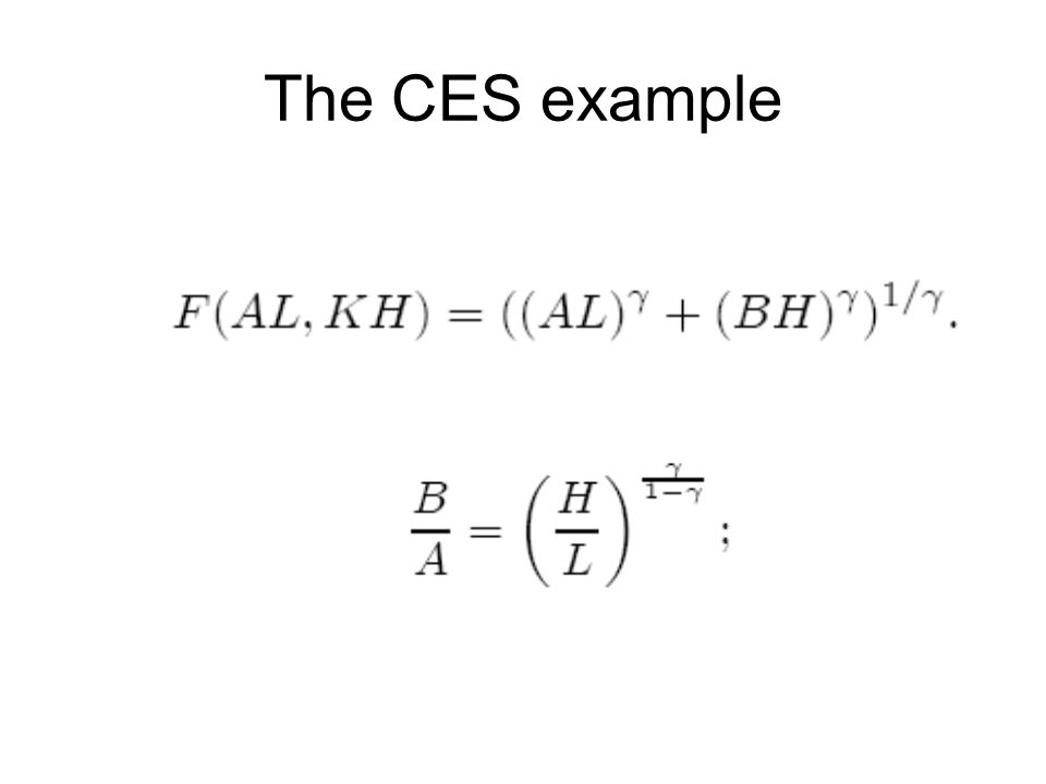 The CES example