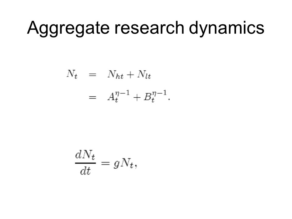 Aggregate research dynamics