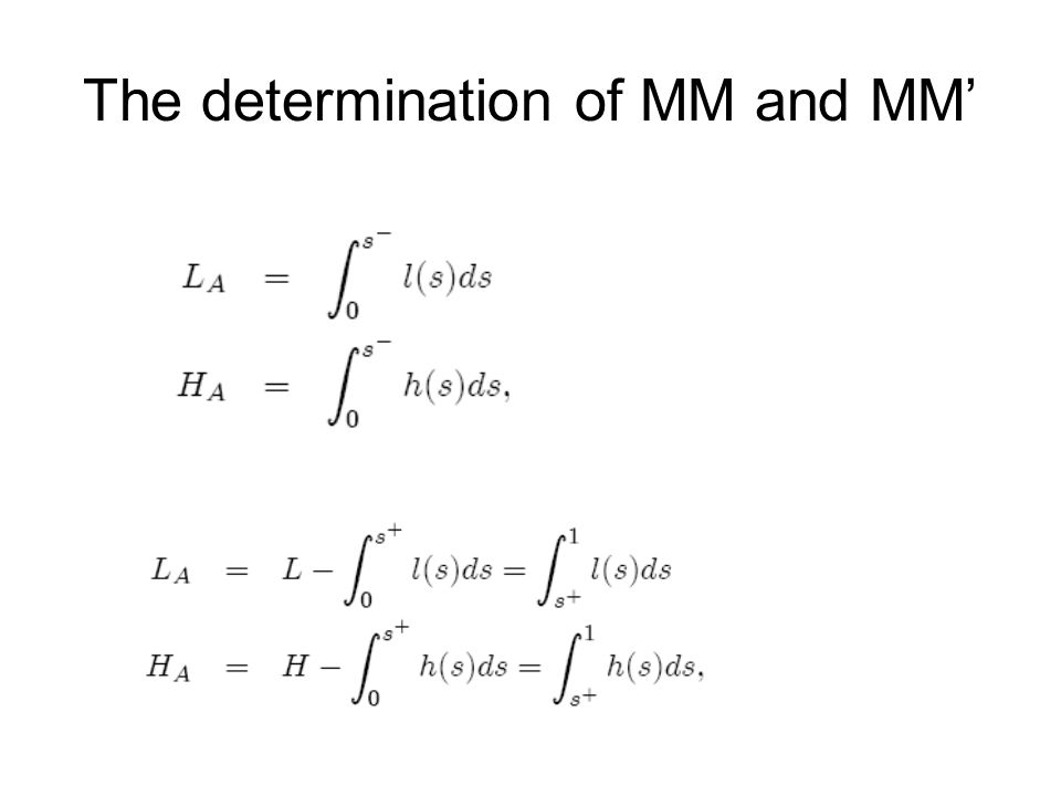 The determination of MM and MM'