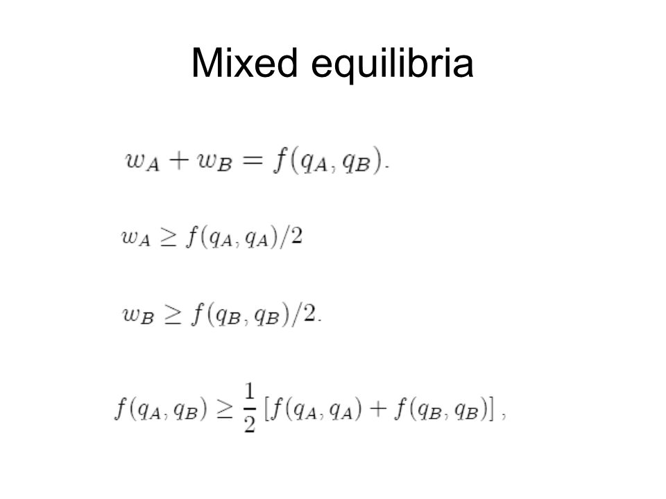 Mixed equilibria