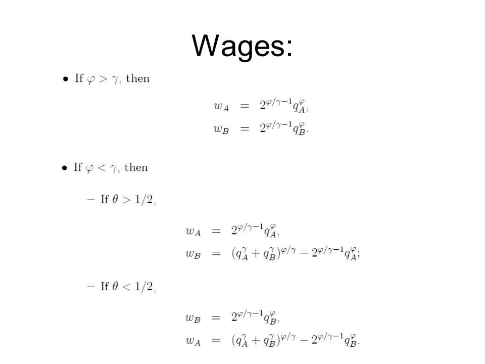 Wages: