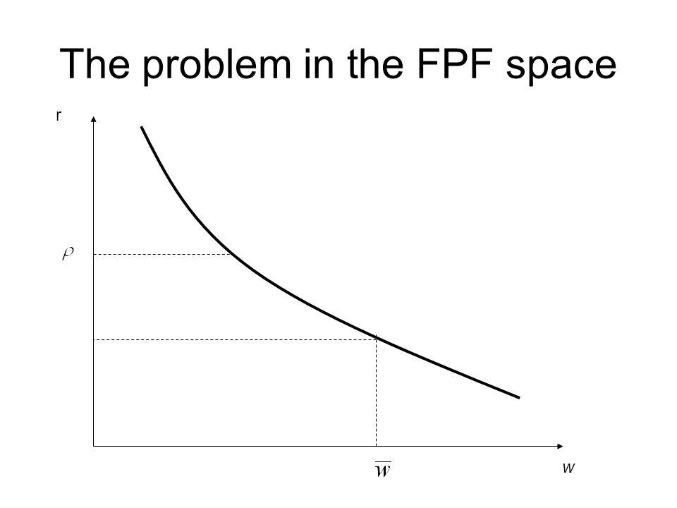The problem in the FPF space w r