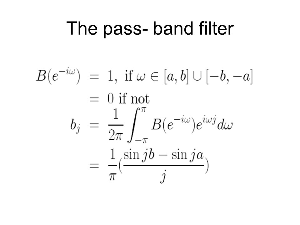 The pass- band filter