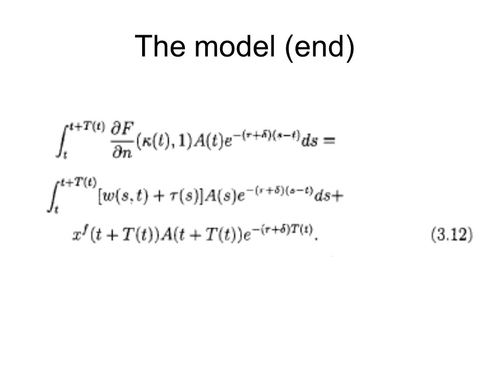 The model (end)