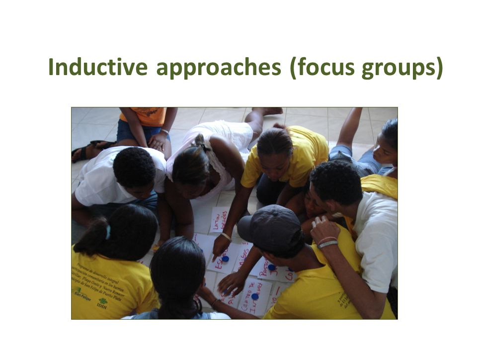Inductive approaches (focus groups)