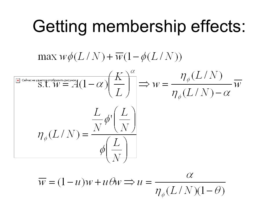 Getting membership effects: