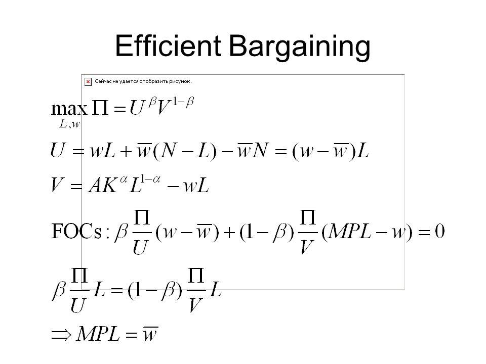 Efficient Bargaining