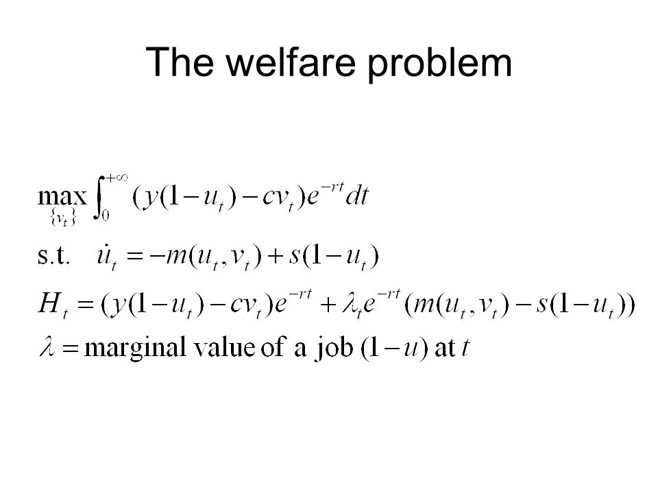 The welfare problem