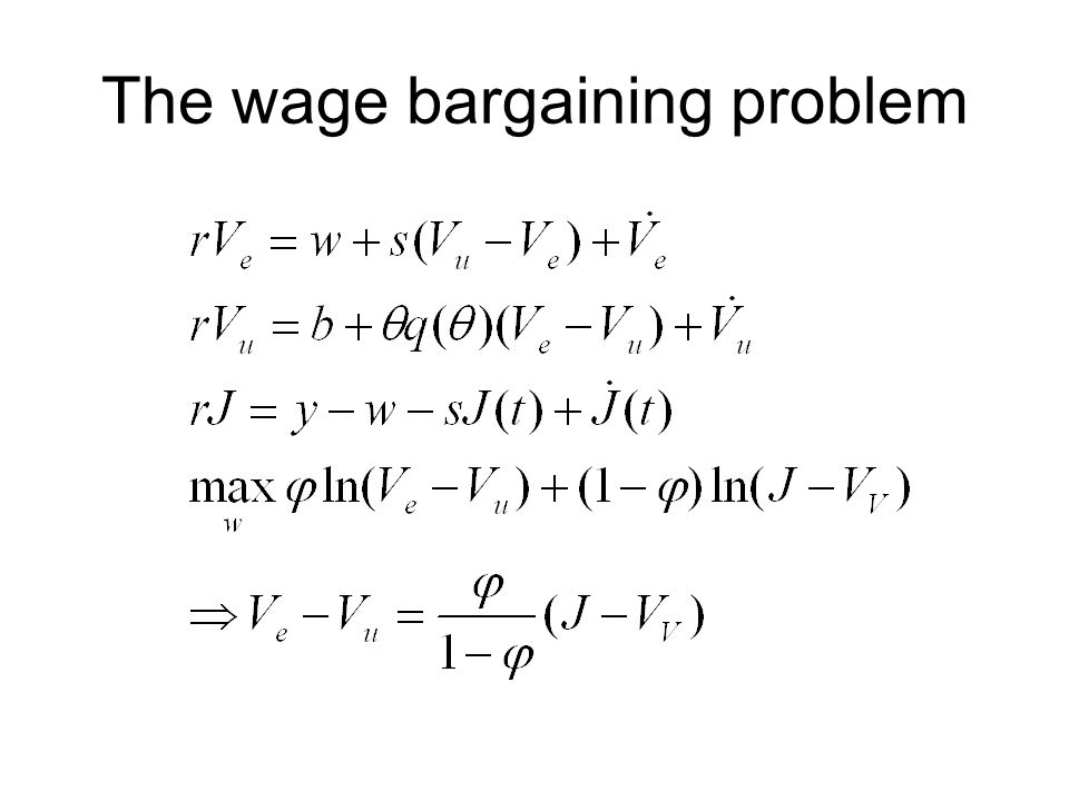 The wage bargaining problem