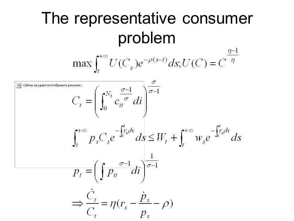 The representative consumer problem