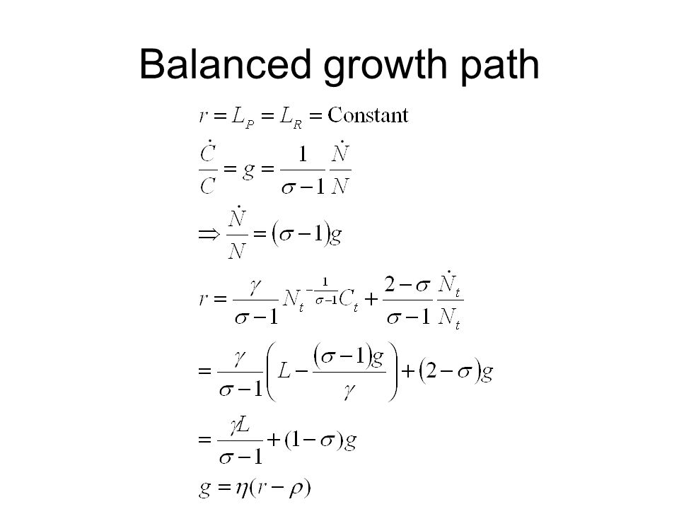 Balanced growth path