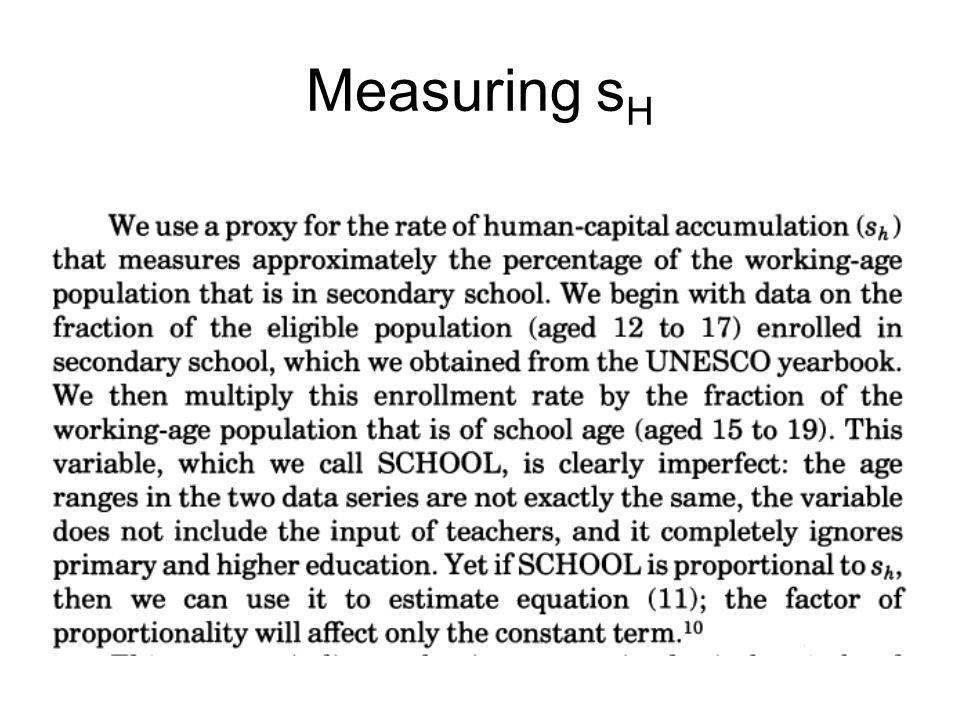Measuring s H