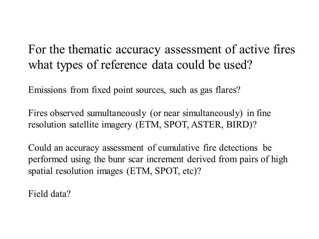 For the positional accuracy assessment of burn scars what types of reference points could be used.