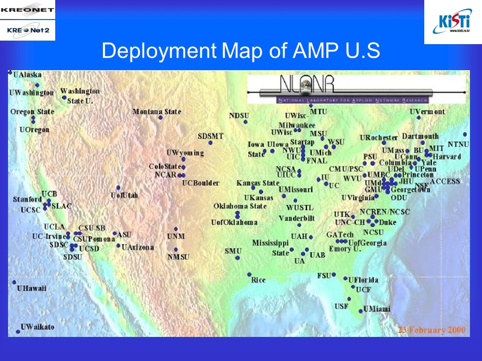 Deployment Map of AMP U.S