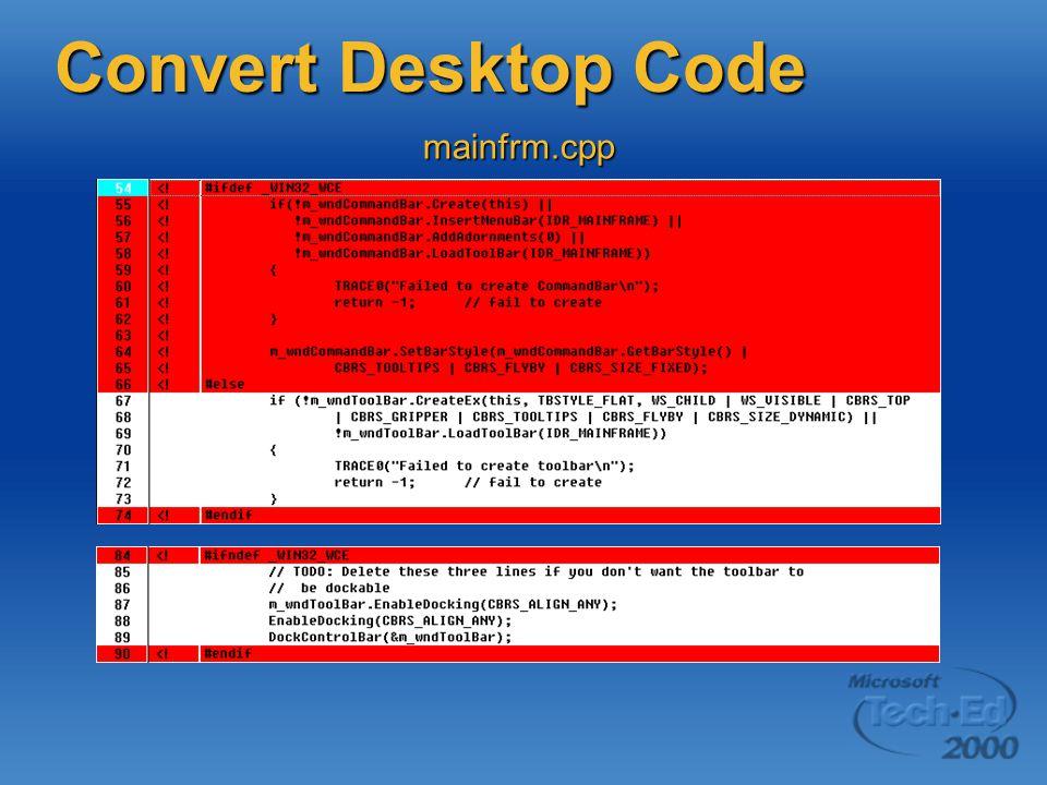 mainfrm.cpp Convert Desktop Code