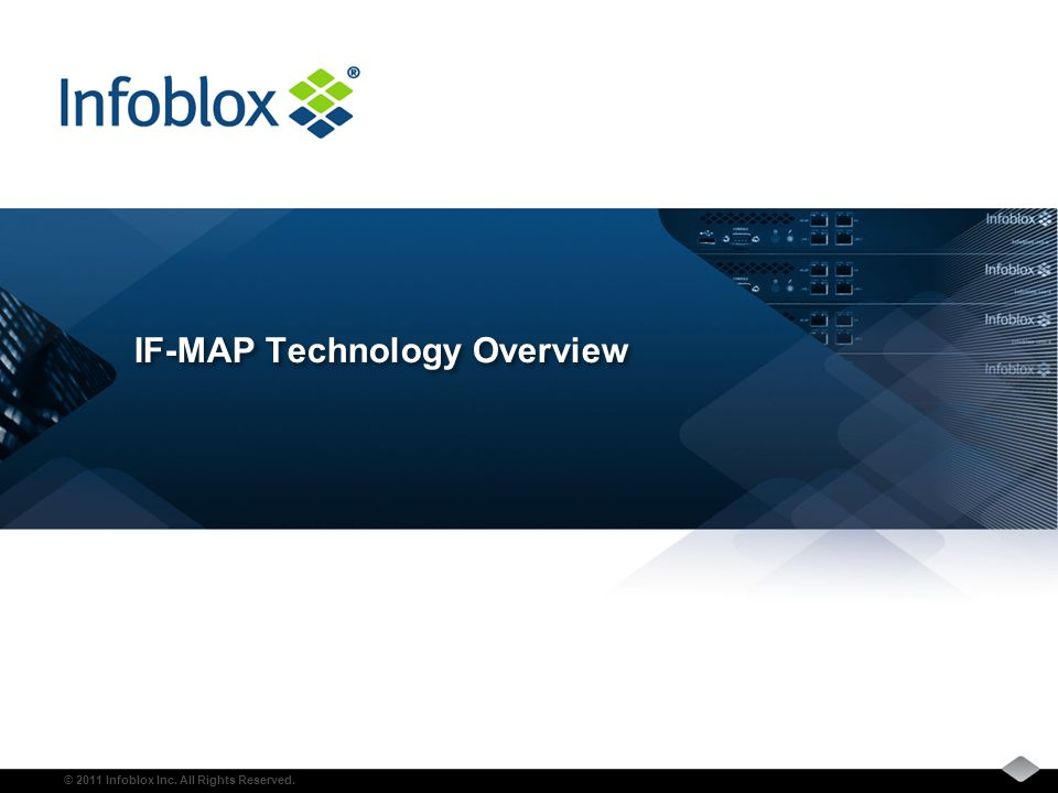 © 2011 Infoblox Inc. All Rights Reserved. IF-MAP Technology Overview