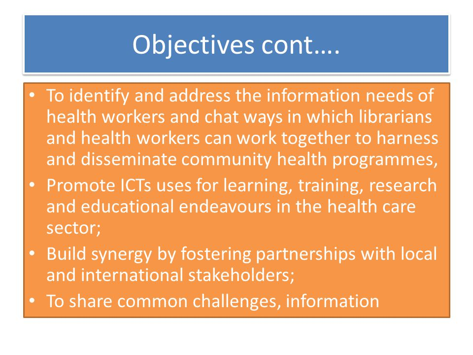 Project Rationale One of the challenges faced by Kenya National Library Service (KNLS) librarians is an insatiable user demand for health information It is on the basis of this need that KNLS applied for the EIFL Public Library Innovation Programme (PLIP) grant in order to mitigate the health information challenges.
