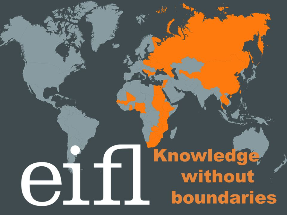 Relationship with consortia EIFL signs a Memorandum of Understanding outlining cooperation and responsibilities with library consortia.
