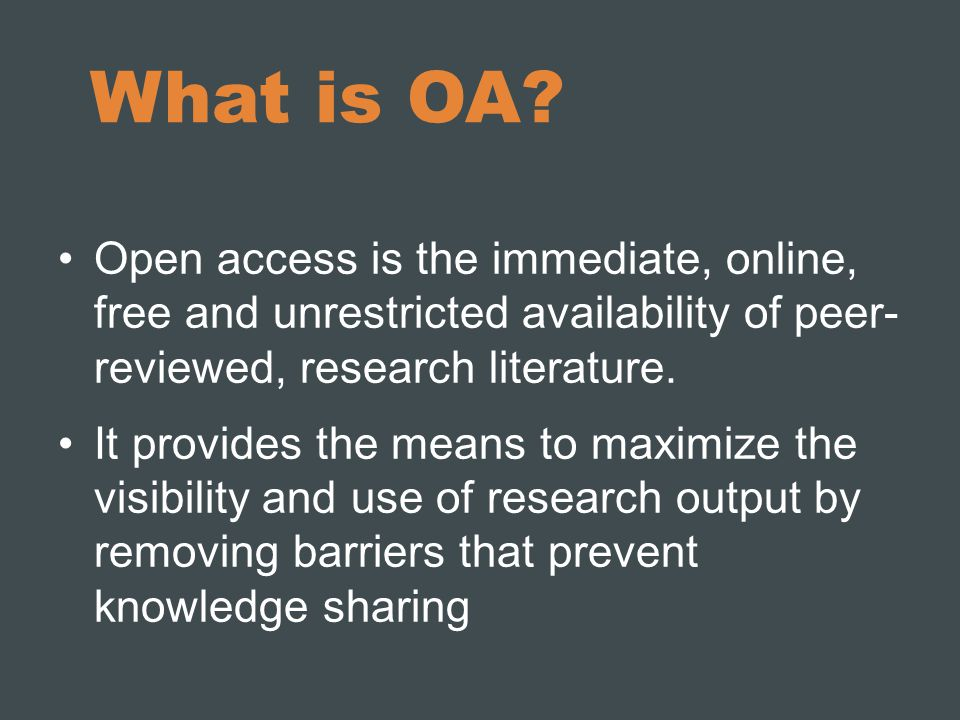 What is OA.