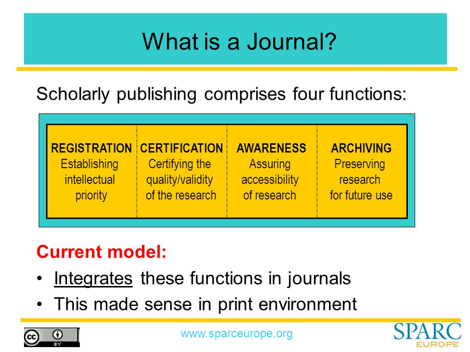 www.sparceurope.org What is a Journal.