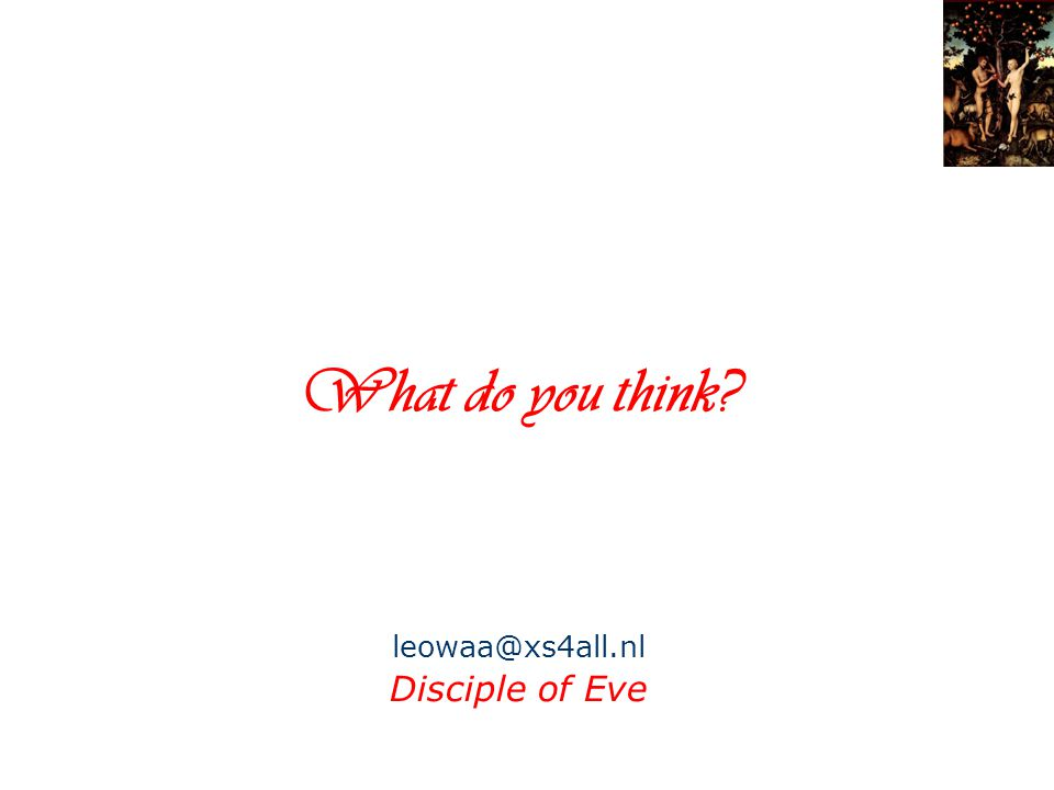 What do you think Disciple of Eve