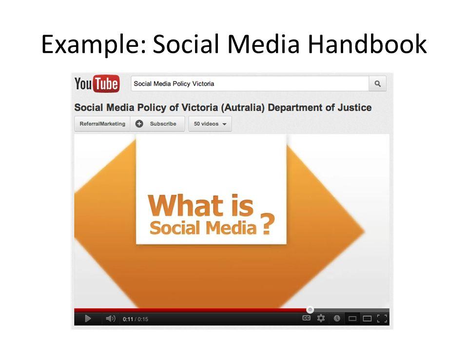 Example: Social Media Handbook