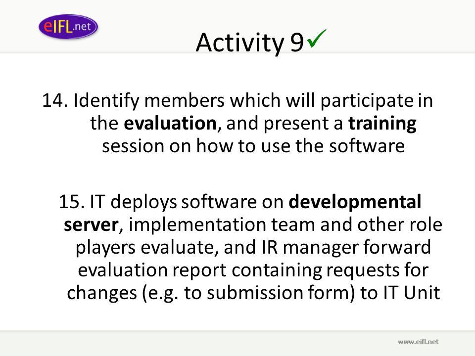 Activity 9 14.