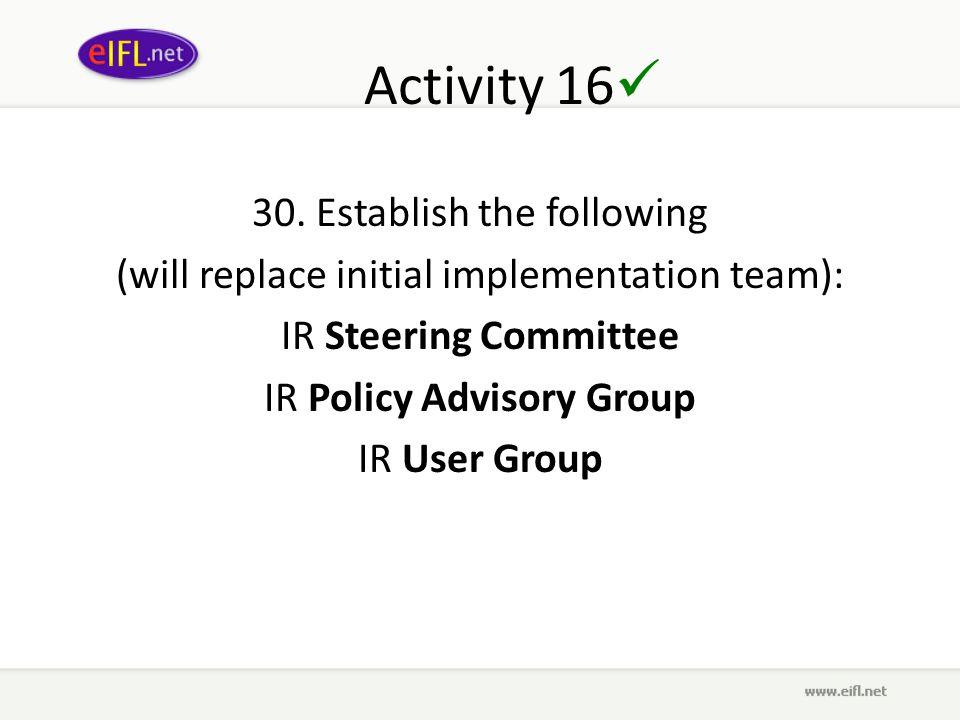 Activity 16 30.