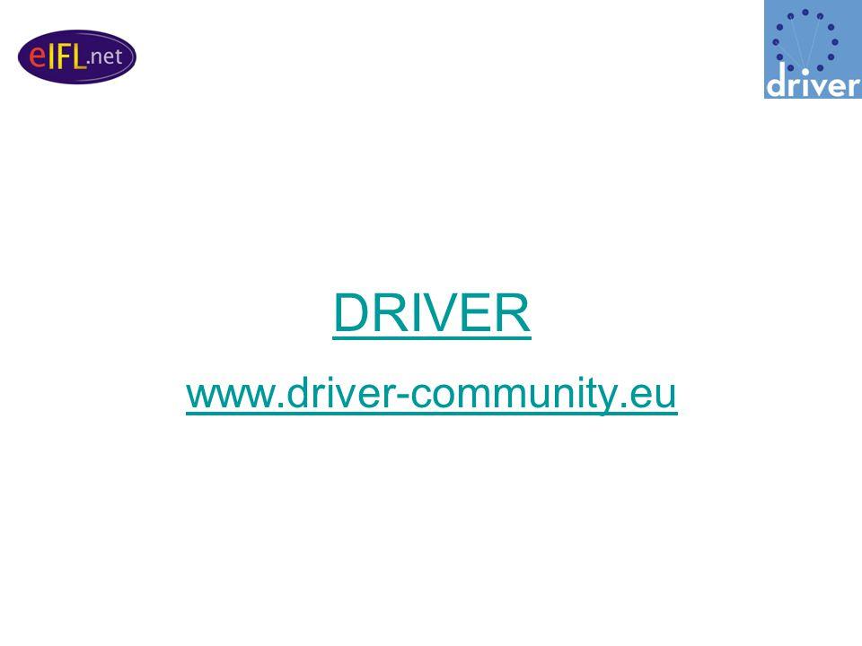 DRIVER www.driver-community.eu