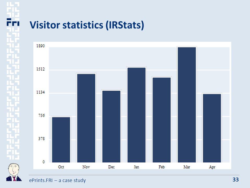 ePrints.FRI – a case study 33 Visitor statistics (IRStats)
